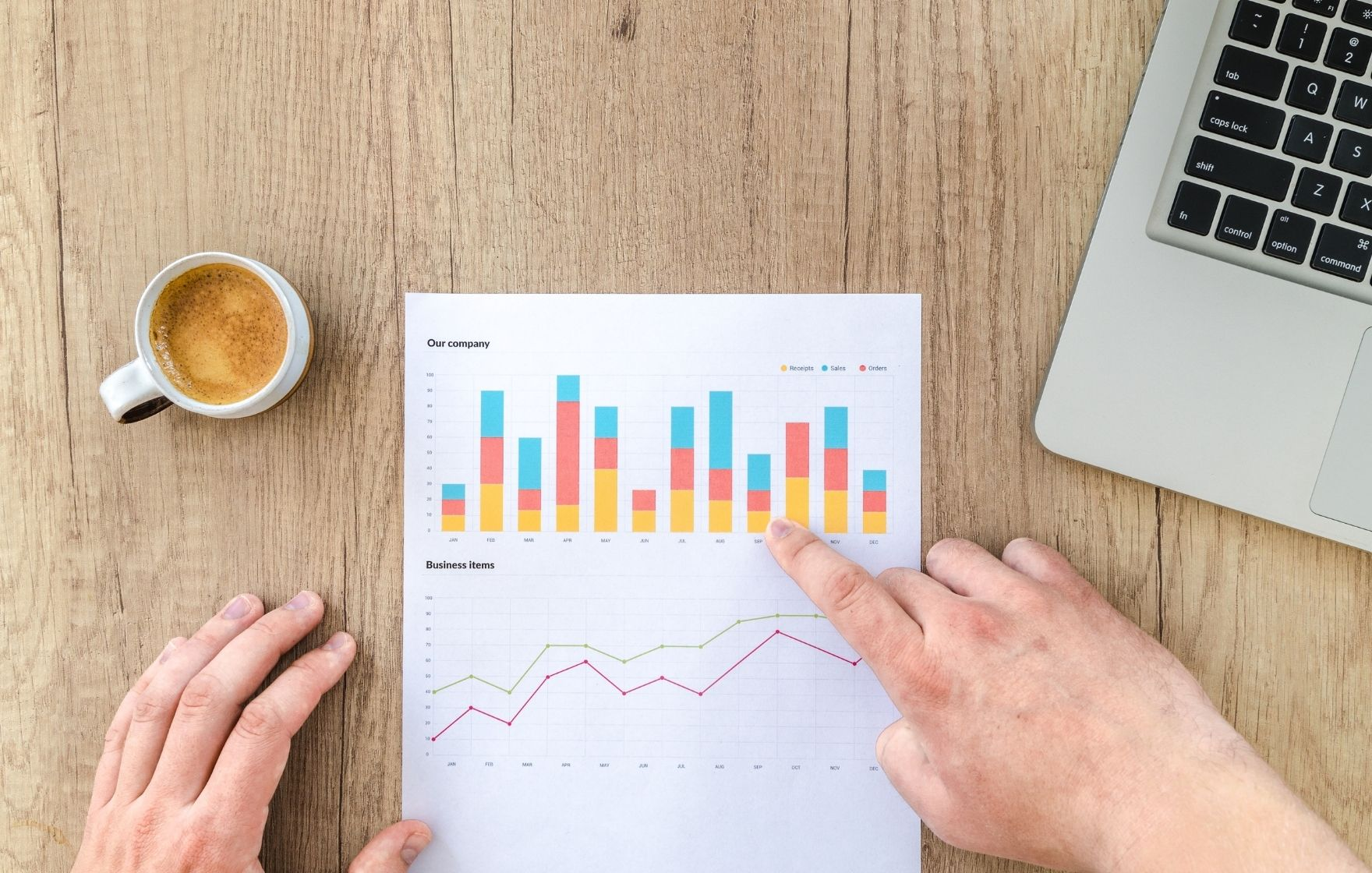 Self managed super funds pros and cons image of person pointing at graph