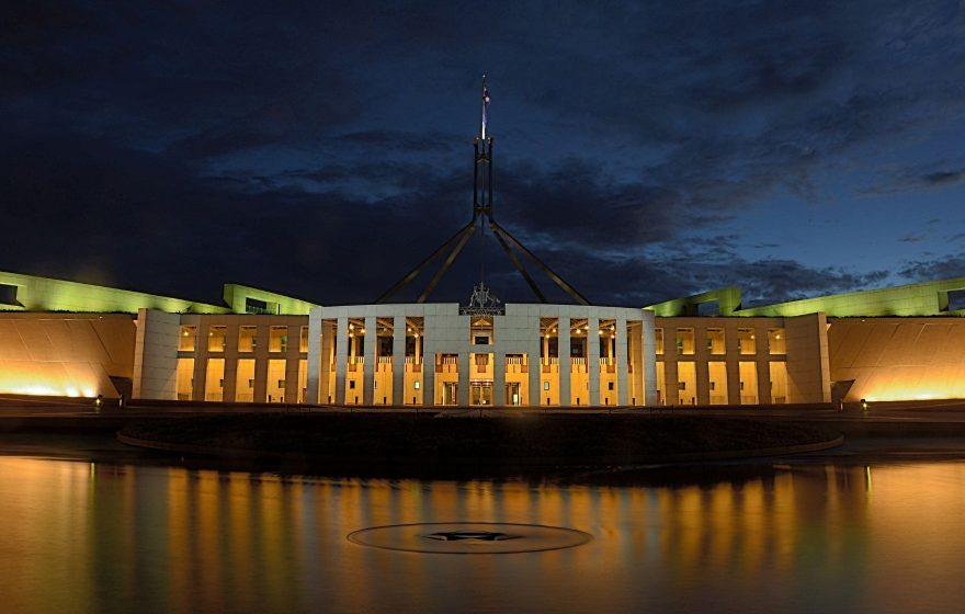 Australian parliament house where the 2020/21 budget was announced